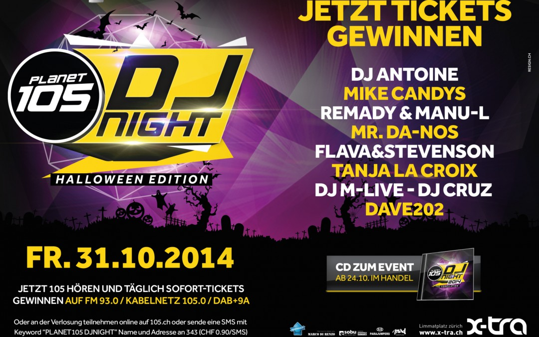 Planet 105 – Halloween DJ Night 2014